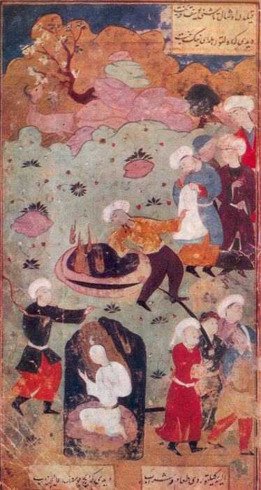 YUSSUF THROWN INTO THE WELL BY HIS BROTHERS, Duibek. «Yussuf and Zulaikha»