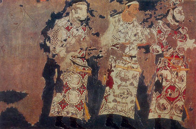 ENVOYS. Fragment Mural painting. West wall.
