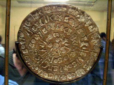 Минойская цивилизация - культура, архитектура, искусство - Диск из Фаистоса (Phaistos Disc)