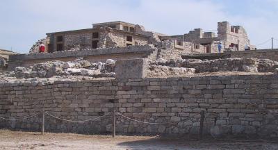 Минойская цивилизация - культура, архитектура - Руины Кносского дворца.