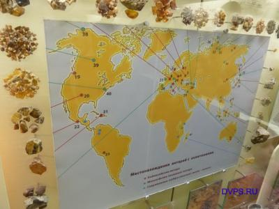 Карта местонахождения янтарей с включениями - Фото участников фото