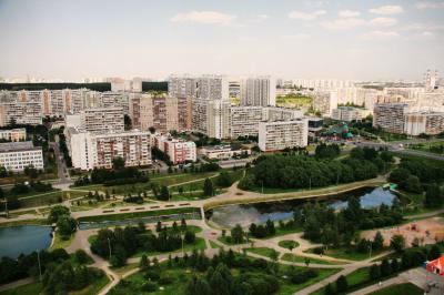 Северное Бутово, парк рядом с метро бульвар Дмитрия Донского