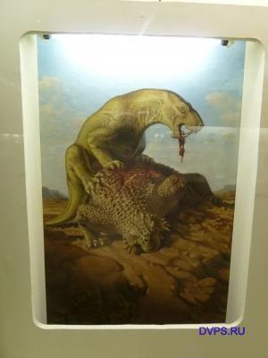 Гипсовые реконструкции парейзавра скутозавра и горгонопии иностранцевии