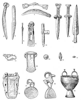 Металлический инвентарь тагарской культуры