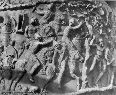 Изображение сарматов на Колонне Трояна (2 в.н.е. В VIII - IV в.в. )