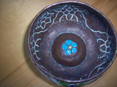 Чаша античная Медь Эмаль Стиль исламский персидский арабский